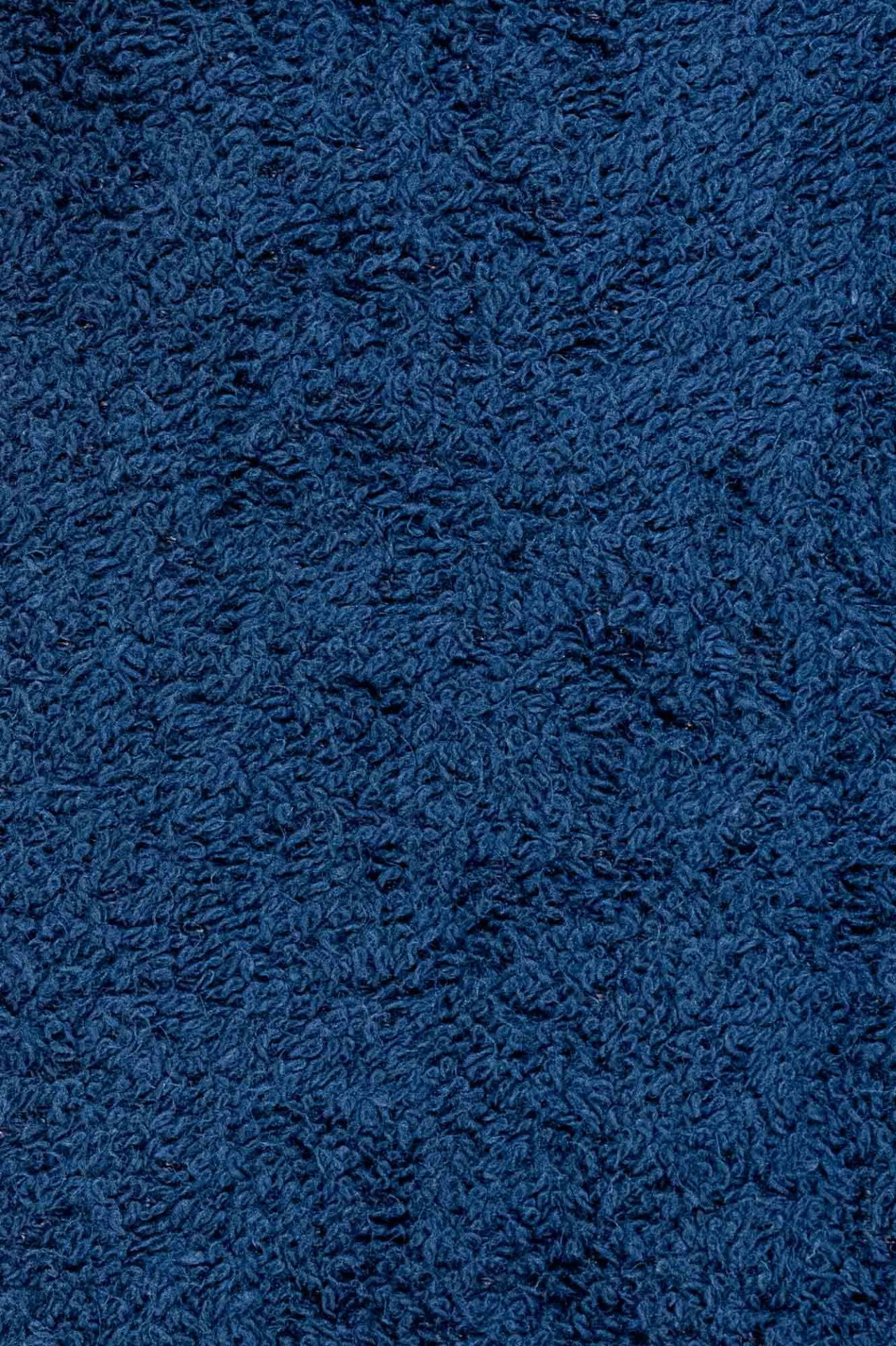 Cotton Towelling Fabric - Navy