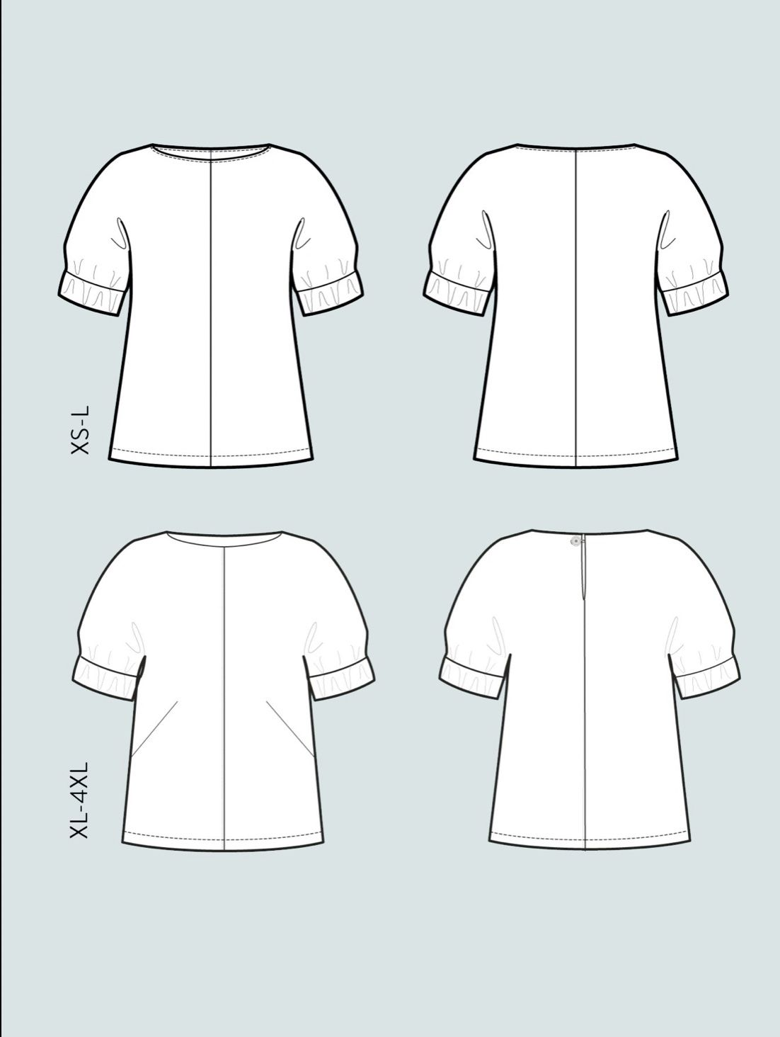The Assembly Line CUFF TOP PATTERN XL-4XL