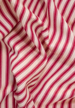 Cotton Ticking Fabric - Red