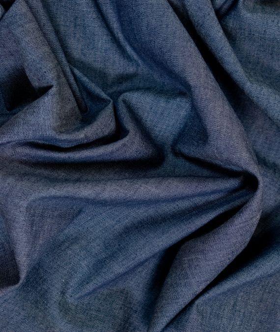 Cotton Chambray Fabric - Plain - Navy