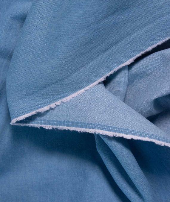 Cotton Denim Fabric - Washed Light- 8 oz