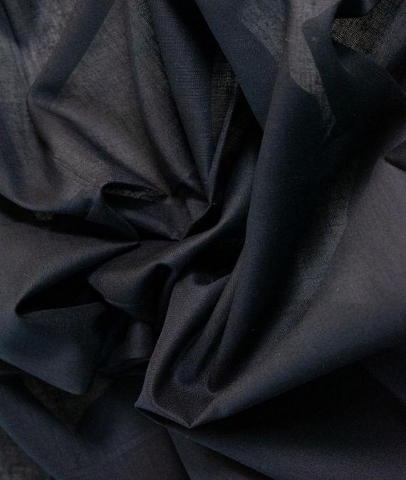 Cotton Muslin Fabric - Black