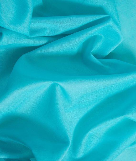 Cotton Muslin Fabric - Turquoise