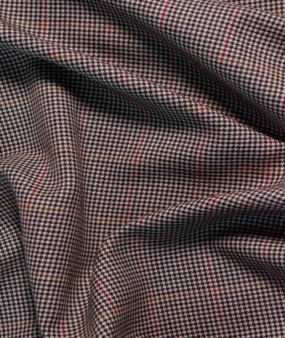 Fine English Wool Suiting - Window Box Check- Sand