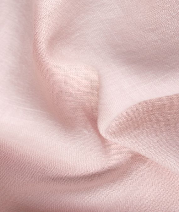French Linen Fabric - Pale Pink