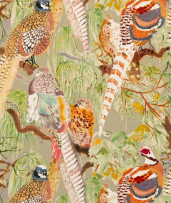 Game Birds Velvet / Fig Multi FD268.H46