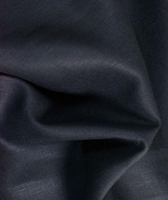 Irish Linen Fabric - Mid Weight - Black