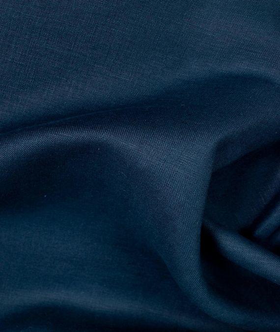 Irish Linen Fabric - Mid Weight - Navy