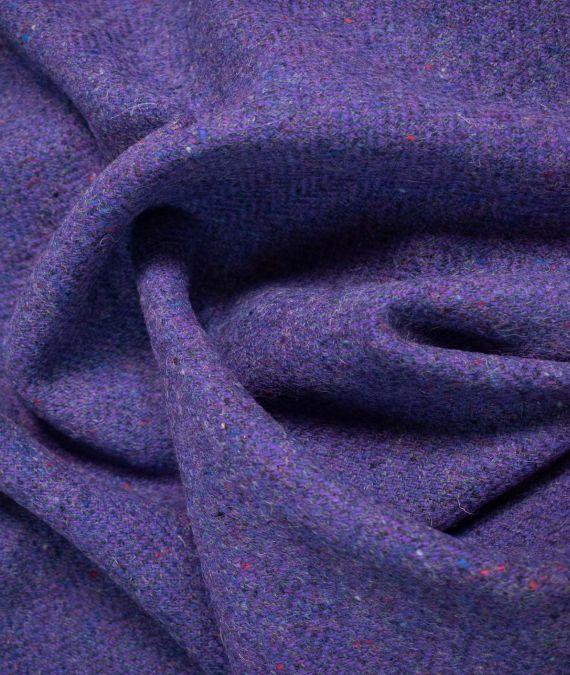 Irish Wool Tweed Fabric - Fleck - Purple