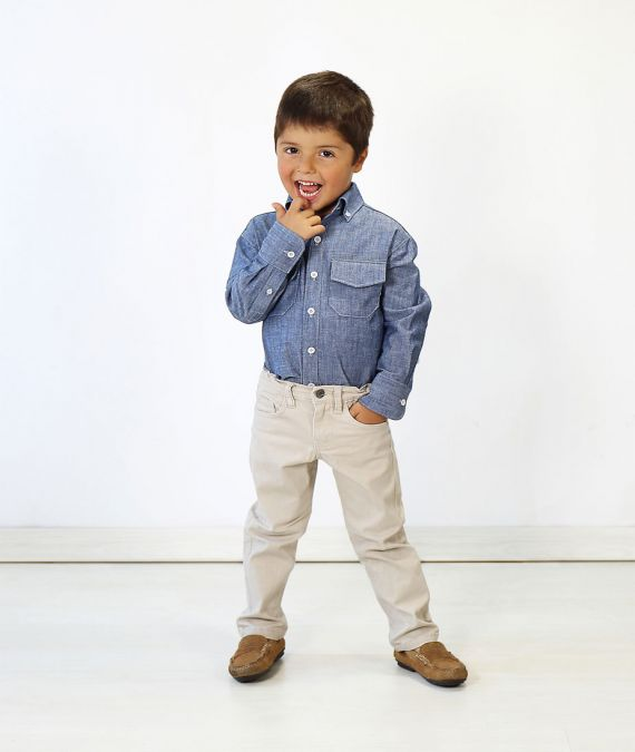 Oliver and Button-Down Shirt Sewing Pattern Age 3 yrs to 12 yrs