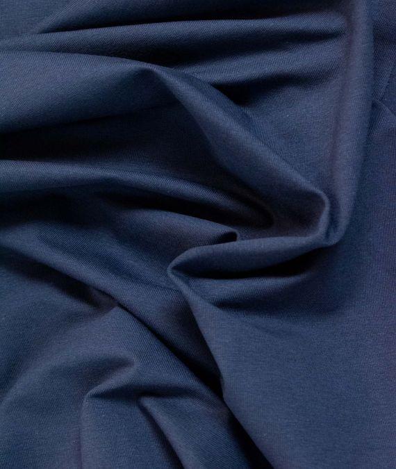 Organic Cotton Jersey Fabric - Navy