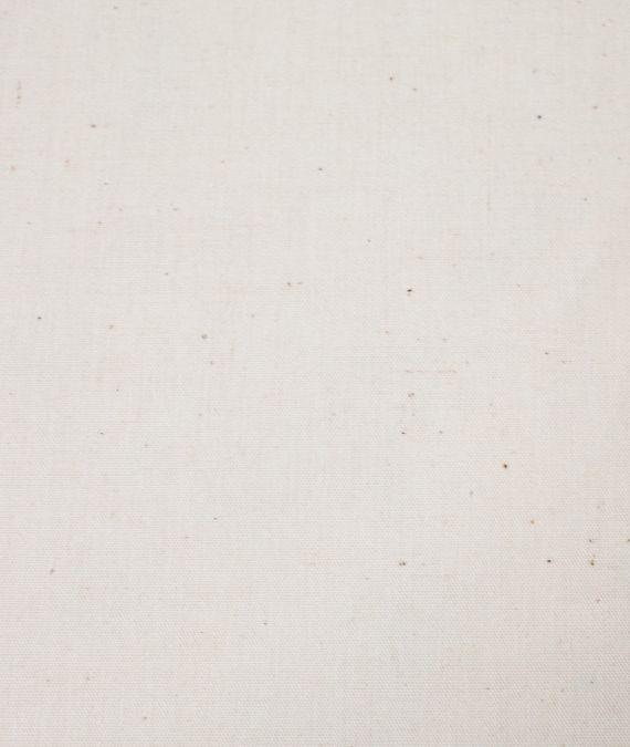 Plain Cotton Poplin Fabric - Natural Seeded