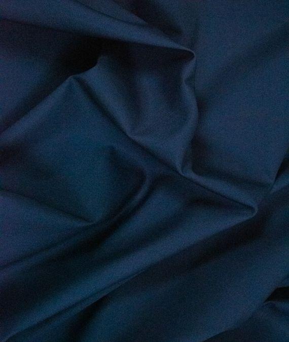 Plain Cotton Poplin Fabric - Navy