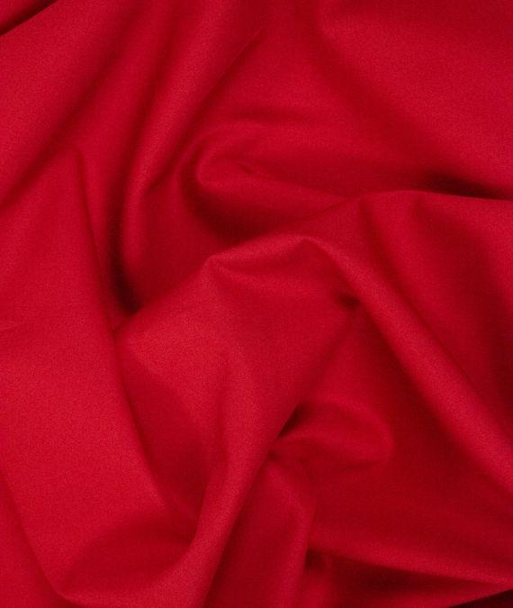 Plain Cotton Poplin Fabric - Red