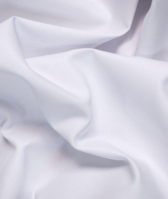 Pure Cotton Drill Fabric - White