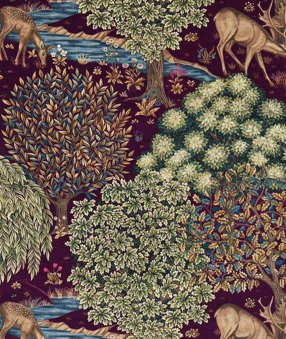 The Brook Velvet Tapestry Red 226699