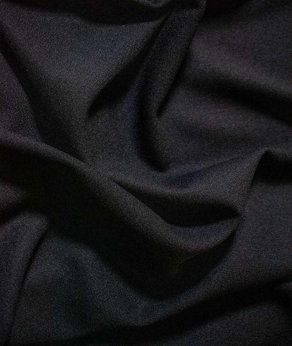 Wool Crepe Fabric - Black