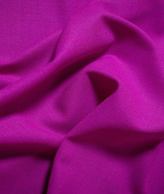 Wool Crepe Fabric - Majenta