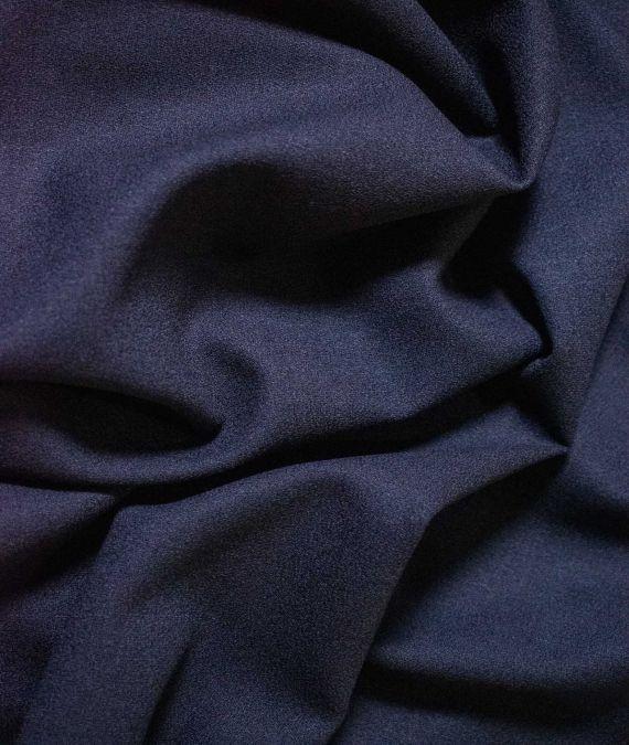Wool Crepe Fabric - Navy
