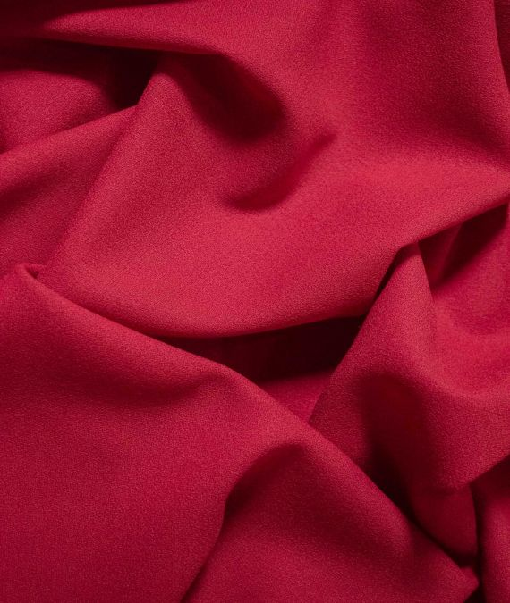 Wool Crepe Fabric - Red