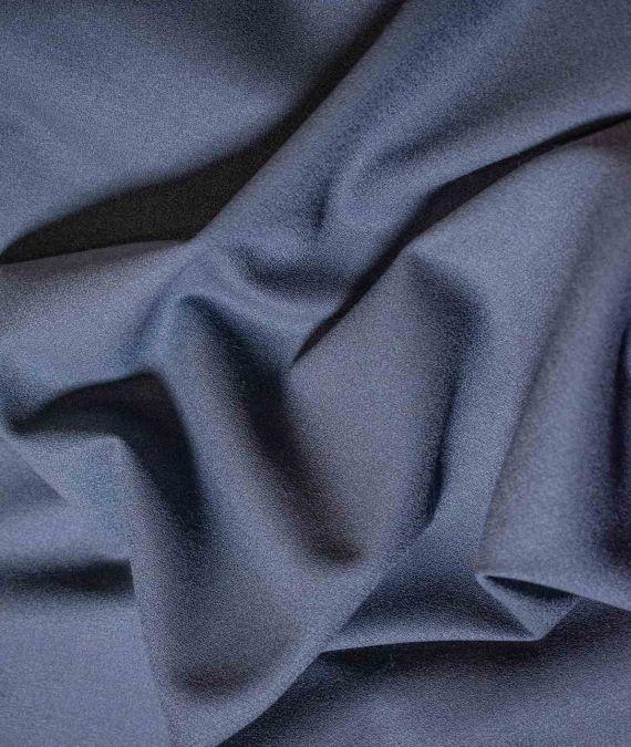 Wool Crepe Fabric - Steel Grey